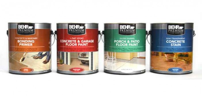 Behr garage floor coating and paint for garage repair for Best product to clean concrete garage floor