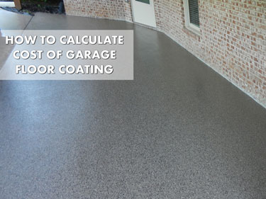 garage floor coating costs - breaking up the spend