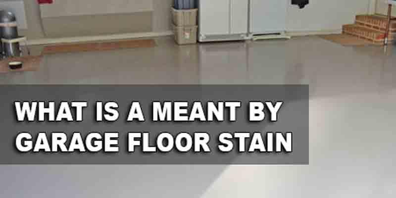 Garage Floor Staining