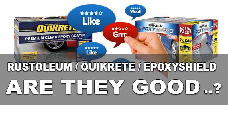 Bad Reviews EpoxyShield Rustoleum Quikrete