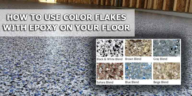 Epoxy Paint Chips : How to use color chips and flakes for epoxy coatings