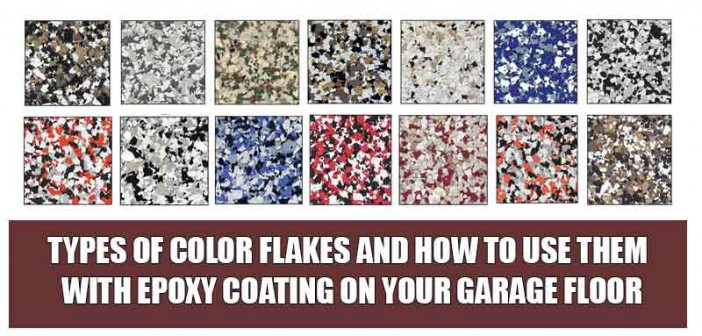 Color Flakes and Chips for Epoxy Coating