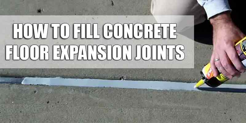 Filling Concrete Expansion Joints